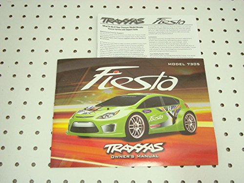 TRAXXAS FORD FIESTA BRUSHED 1 16 OWNERS MANUAL AND PARTS LIST