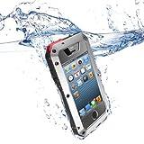 Aursen® iPhone 4/4S coque - housse etui étanche/ imperméable résistante aux chocs et à la poussière pour smartphone iphone 4/4S (Argent)
