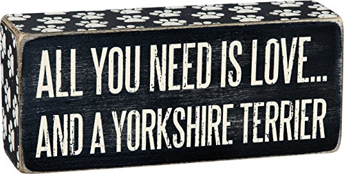 Primitives by Kathy Box Sign, 2.5-Inch by 6-Inch, Yorkshire