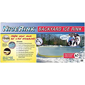 amazon com nicerink 20 x 40 backyard ice rink kit