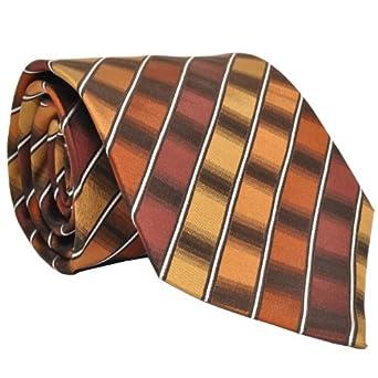 Van Heusen Men's South Beach Geos Tie, Orange, One Size