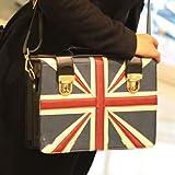 Fashion Retro Style Student¡®s British UK Flag Handbag Messenger Bag Shoulder Bag