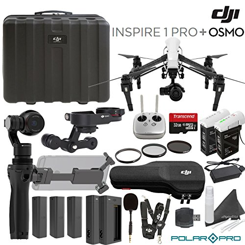 DJI Inspire 1 Pro & Osmo Bundle: Includes Zenmuse X3 & X5 + Osmo X5 Adapter + 3 Osmo Batteries + 2 Chargers + 2 Inspire Batteries and more...