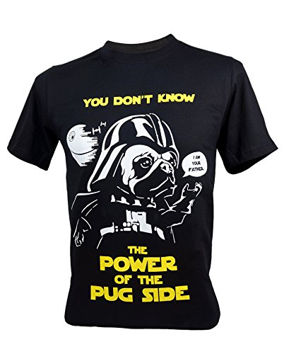 Immortal Unisex Star Wars Power of The Pug Side Vader Funny T-Shirt Large Black