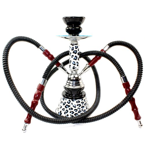 GSTAR-Premium-Series-11-2-Hose-Hookah-Complete-Set-Cheetah-Leopard-Tiger-Animal-Skin-Art-w-Optional-Carrying-Case