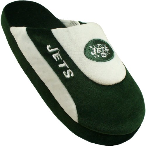 Cheap Comfy Feet NYJ07XL New York Jets Slippers Low Pro Stripe Extra Large Size (NYJ07XL)