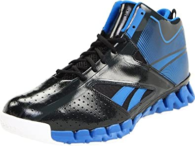 Reebok Men's Wall Season 2: Zig Encore Basketball Shoe,Black/Gravel/Buff Blue,13 M US