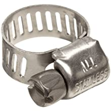 "Precision Brand M4S Micro Seal, Miniature All Stainless Worm Gear Hose Clamp, 7/32"" - 5/8"" (Pack of 10)"