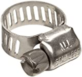 Pack of 10 Precision Brand B8HS All Stainless Worm Gear Hose Clamp 7//16-1