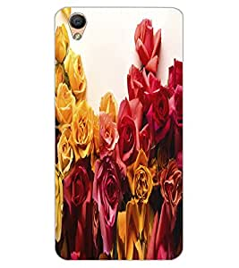 ColourCraft Beautiful Flower Bunch Design Back Case Cover for OPPO R9