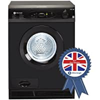 White Knight C96AB 7kg Sensing Condensor Dryer in Black