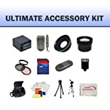 Huge Ultimate Accessory Kit for the Canon VIXIA HF M32 Flash Memory Camcorders.the Kit Includes Lenses, Filters, 8gb Sd Memory Card, Extended Battery, Carrying Case, Tripod, Video Light Plus Much More!!