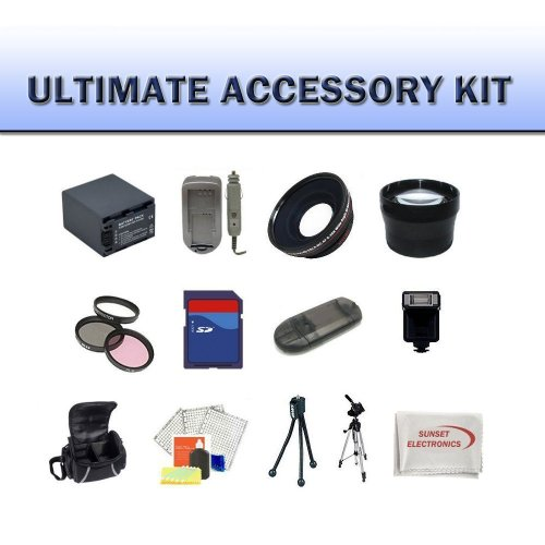 Huge Ultimate Accessory Kit for the Canon Vixia HF M400 Flash Memory Camcorders.the Kit Includes Lenses, Filters, 8gb Sd Memory Card, Extended Battery, Carrying Case, Tripod, Video Light Plus Much More!!
