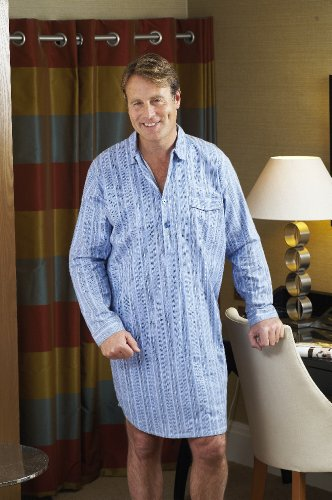 New Mens CHAMPION Warm Brushed Cotton Nightshirt Sleepwear Sleepwear Lounge Wear