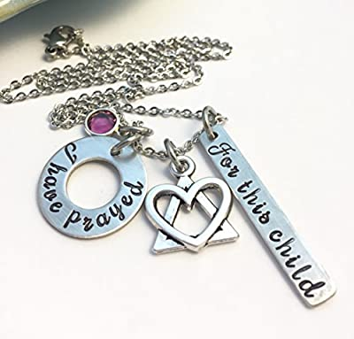 Triangle of Love ~ Adoption Necklace ~ Infertility Jewelry ~ For this child I have prayed ~ I wished for you ~ Adopted Affirmation