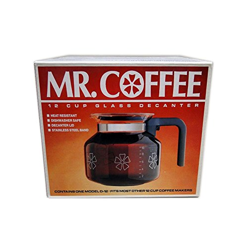 Mr Coffee Retro Coffee Maker : Vintage 1987 Mr. Coffee Flower Patterned 12 Cup Glass Decanter No. D-12 Home Garden Kitchen ...