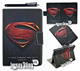 Ipad Mini Superman Childrens PVC Folio Ipad Case, Cover w/Jersey Bling® Stylus (Superman w/Gift Item)