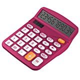 Calculator, Helect Standard Function Desktop Calculator (Plum) - H1001C
