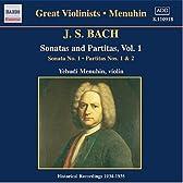 J.S. バッハ:無伴奏ヴァイオリンのためのソナタとパルティータ BWV1001, 1002, 1004 (メニューイン)(1934 - 1935)