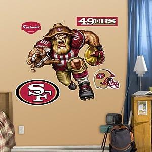 NFL San Francisco 49ers Ferocious 49er Wall Graphics by Fathead