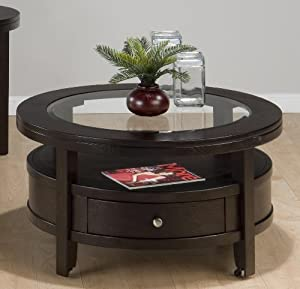 Jofran Marlon Round Cocktail Table in Wenge