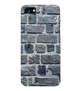 EPICCASE blue brick wall Mobile Back Case Cover For Apple iPhone 7 (Designer Case)