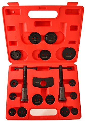 Motivx Tools 18 Piece Brake Caliper Wind Back Tool Set for Disk Brake Pad Replacement (Rear Disc Brake Caliper Tool compare prices)