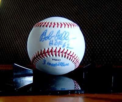 Bob Feller Cleveland Indians Autographed Signed Baseball - Ball Inscribed 3 No Hitters