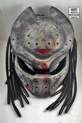 SY No.22 Custom Predator Motorcycle Dot Helmet Matt Black