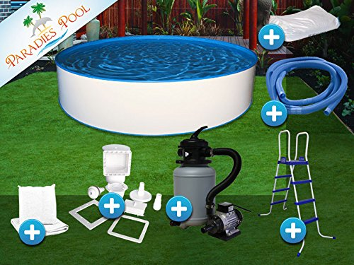 pool set easy 2 50x1 20m rund stahlwandbecken komplettset aufstellbecken. Black Bedroom Furniture Sets. Home Design Ideas