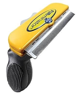 "FURminator Long Hair deShedding Brush for Large Dogs 51-90 Lbs 4"" Inch Edge Tool Comb"