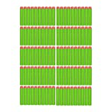 100 GREEN Foam Darts Refill Pack Of Foam Bullets With Orange Soft Tip, Compatible With Most Popular Zombie, Elite...