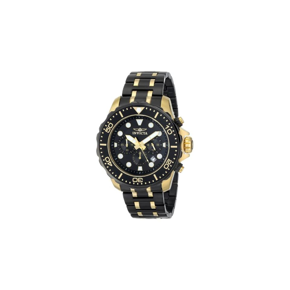 Invicta Mens 15389SYB Pro Diver Analog Display Two Tone Watch