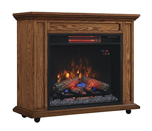 Duraflame 23IRM1500-O107 Infrared Rolling Mantel Fireplace