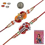 Little India Ethnic Style Traditional Jaipuri Design Rakhi Pair Gift 407