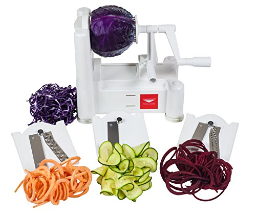 Paderno World Cuisine A4982799 Tri-Blade Vegetable Spiral Slicer.