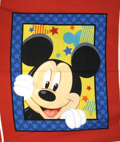 """44"""" Wide Disney Mickey Mouse Play Cotton Fabric By The Panel front-570854"""