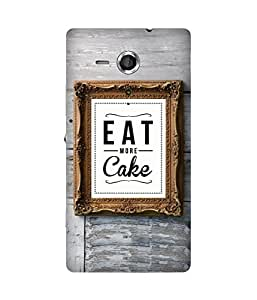 Eat More Cake Sony Xperia SP Case