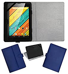 ACM LEATHER FLIP FLAP TABLET HOLDER CARRY CASE STAND COVER FOR DIGIFLIP PRO XT712 TAB BLUE