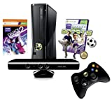 Xbox 360 250 GB Kinect + Kinect Sports + Dance Central 2 Bundle