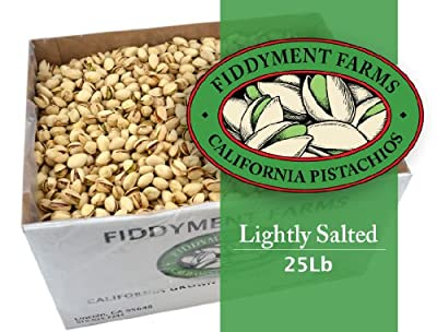 25 Lbs Salted In-shell Pistachios from Fiddyment Farms Gourmet Pistachios