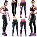 SlickBlue Women's Fitness Yoga Sport Pants Printed Stretch Ankle Legging
