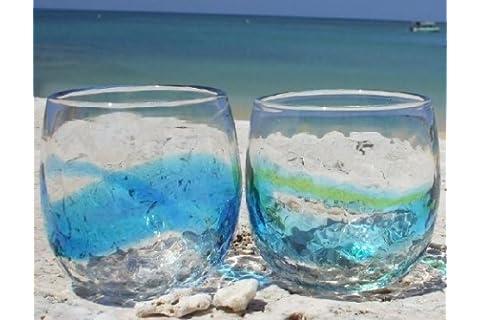 琉球ガラス 【2個セット】デコたるグラス 【琉球ガラス村】