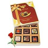 Valentine Chocholik's Luxury Chocolates - Luscious Love Chocolate Gift Box With Red Rose