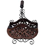 Crafts A to Z Wooden & Iron Table Decor Magazine Holder/Rack Size (LxBxH-28x20x30) CM