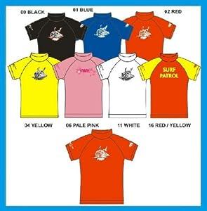 Childrens / Kids TWF Wetsuit Rash Guard Vest ~ SPF 50+ (04 Yellow, K15 ~ Approx 13 - 15 Years)