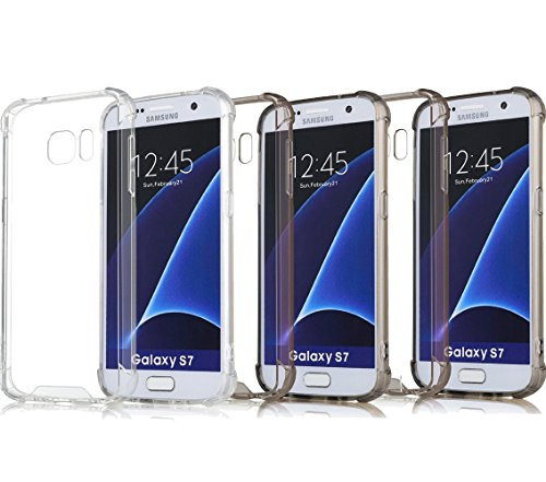 3Pack S7 Case Crystal Clear Slim Bumper Cases ImageLifestlye Shock Absorbing Transparent Protection from Drops and Impacts TPU Gel Rubber Soft Skin Cover for Samsung Galaxy S7 (Iphone 6 Outter Cas compare prices)