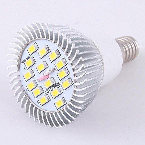 Home Useful E14 6W 15Led 5730 85V-265V Smd Warm White Aluminum Light Lamp 400-450Lm Ce Rohs