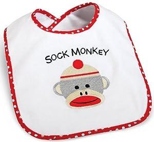 Party Destination - Sock Monkey Bib