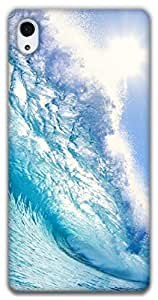 The Racoon Lean blue wave hard plastic printed back case / cover for Sony Xperia Z2